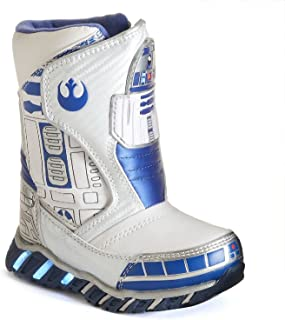 Star Wars R2d2 Light-up Toddler/Little Kids Cold Weather Boots - White