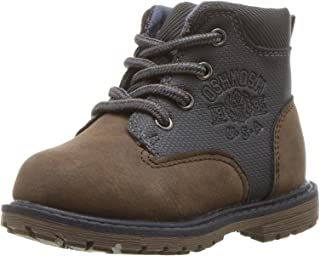 OshKosh B'Gosh Murphy Boy's Lace Up Boot Combat, Brown/Grey, 11 M US Little Kid