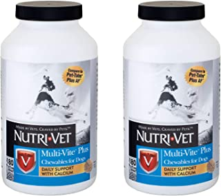 Nutri-Vet Multi-Vite Plus Chewables, 180 Count Pack of 2