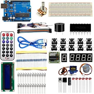 Starter Kit for Arduino UNO R3 Learning Basic Suite for Board Stepper Motor 1602 LCD SG90 Servo MB-102 DIY Project