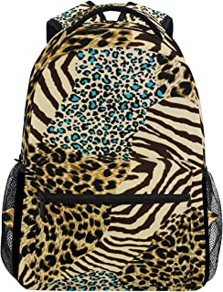Animal Tiger Zebra Leopard Print Mochila de Viaje Escuela Bolsa de Hombro Bookbag para niños niñas niños Hombres Mujeres