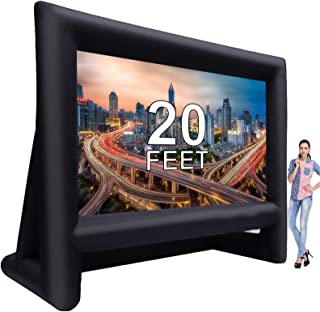 20 Feet Inflatable Outdoor Movie Projector Screen,Blow Projector Screen Projection Screen for Outdoor Backyard - Includes ...