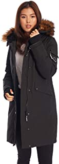 Womens Vegan Down Long Parka Winter Jacket