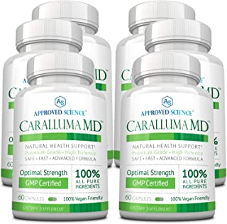 Caralluma MD - Optimize Health - 100% Caralluma Fimbriata Whole Plant Extract - No Additives, Preservatives or Artificial Ingredients. 6 Bottles.