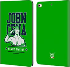 Official WWE John Cena Never Give Up 2 2018/19 Superstars 4 Leather Book Wallet Case Cover Compatible for iPad Mini (2019)