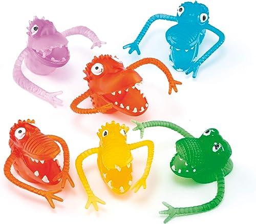 Baker Ross Lot de 10 Monstres à Doigt de différents Coloris - Idéal comme Cadeau de Pochette Surprise ET387