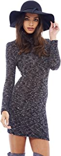 AX Paris Women's Long Sleeved Knitted Bodycon Dress