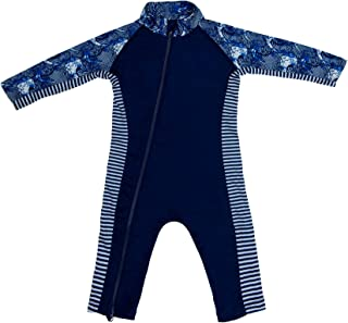 Premium Rash Guard Sunsuit for Baby Girl or Boy with UPF 50+ Sun Protection Beach Pool