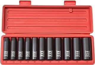 TEKTON 1/2-Inch Drive Deep Impact Socket Set, Metric, Cr-V, 6-Point, 10 mm – 24 mm,..