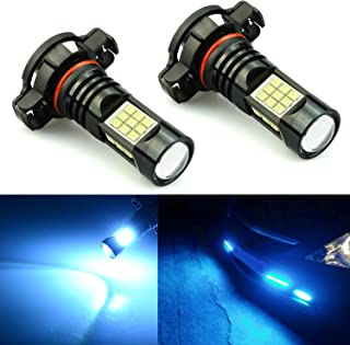 JDM ASTAR 2400 Lumens Extremely Bright PX Chips 5202 5201 LED Fog Light Bulbs for DRL or Fog Lights, Ice Blue