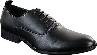 Scarpe Classiche da Uomo in Finta Pelle PU con Lacci Stile Formale Retro Nero