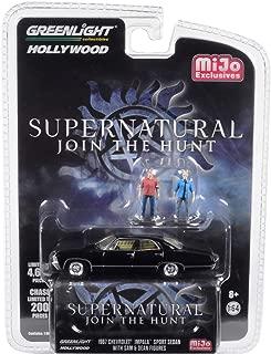 1967 Chevrolet Impala Sport Sedan Black w/Sam and Dean Figurines Supernatural (2005) TV Series Ltd Ed 4,600 pcs 1/64 Diecast Car by Greenlight 51206