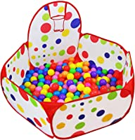 Dreampark Kids Ball Pit Playpen Ball Tent with Basketball Hoop and Zippered Storage Bag for Toddlers, 3.93 ft/120cm...