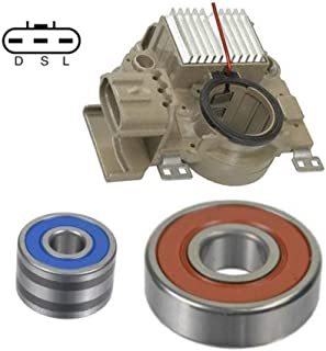 Bearings Alternator Rebuild Kit for Case Equipment Tractors Loaders//more with Bosch 0120488293 12161RK Brushes 0120488205 Regulator