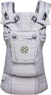 LÍLLÉbaby The Complete Embossed Luxe SIX-Position 360° Ergonomic Baby & Child Carrier, Pewter Grey