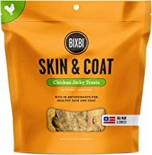BIXBI All-Natural Dog Jerky Treats - Skin, Immune and Joint Support - Salmon, Beef and Chicken