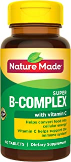 Nature Made Super B-Complex Tablets, 60 Count for Metabolic Health† (Packaging May Vary)