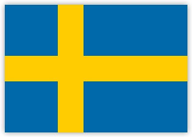 10 X Aufkleber Schweden Flagge 7 4 X 5 2 Cm Für Innen Und Außen Auto