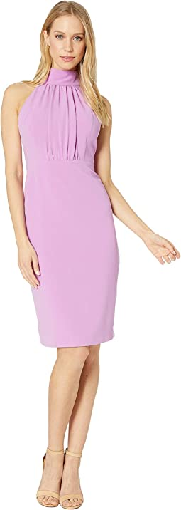 Sleeveless Mock Neck Dress with Strap Detail