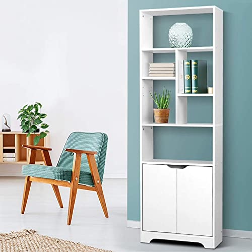 Artiss Bookshelf Wooden Display Shelf - White