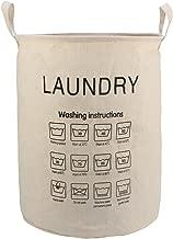 HOKIPO Cotton 61 L Foldable Laundry Bag, Beige