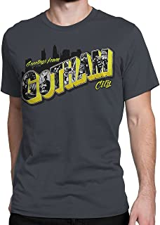 DC Comics Batman Greetings From Gotham CityCamiseta Gris Para Hombre
