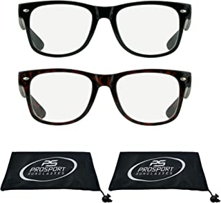 2 Pairs Vintage Retro Inspired Reading Glasses, Full Lens Reader for Men and Women +1.00 to +6.00