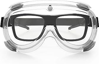 نظارات أمان ملائمة للنظارات، حماية شفافة واسعة الرؤية مضادة للضباب للرجال والنساء، نظارات واقية للمختبر، المستشفى، الطائر...