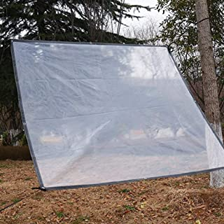 Tarps XUERUI PE Waterproof Tarpaulin Rain Curtain, Awning Gazebo Canopy Sheet Cover Gardening Awning Canopy (Color : Transparent, Size : 4x7m)