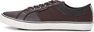 Mens Jack and Jones Ross Pu Mix Java Brown Casual Trainers Size
