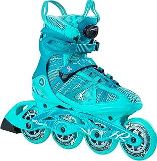 K2 Skate Vo2 90 Boa Inline Skates, Size 6, Blue/Seafoam