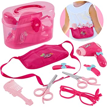 SALON Set Giocattolo Bambini capelli e Bellezza Accessori Styling giocattolo gioca Custodia