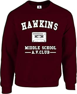 Graphic Impact Inspired Funny Hawkins Middle School Stranger Funny Things Sweatshirt Season 2