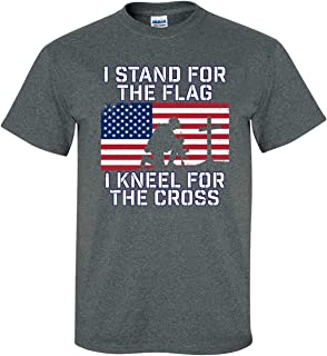 Patriotic Stand for Flag Kneel for Cross Adult T-Shirt