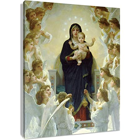 LADY MADONNA MARY /& BABY JESUS CANVAS PRINT PICTURE WALL ART FREE FAST DELIVERY