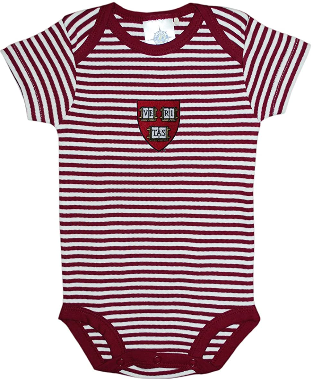 Harvard University Shield Striped Baby Bodysuit