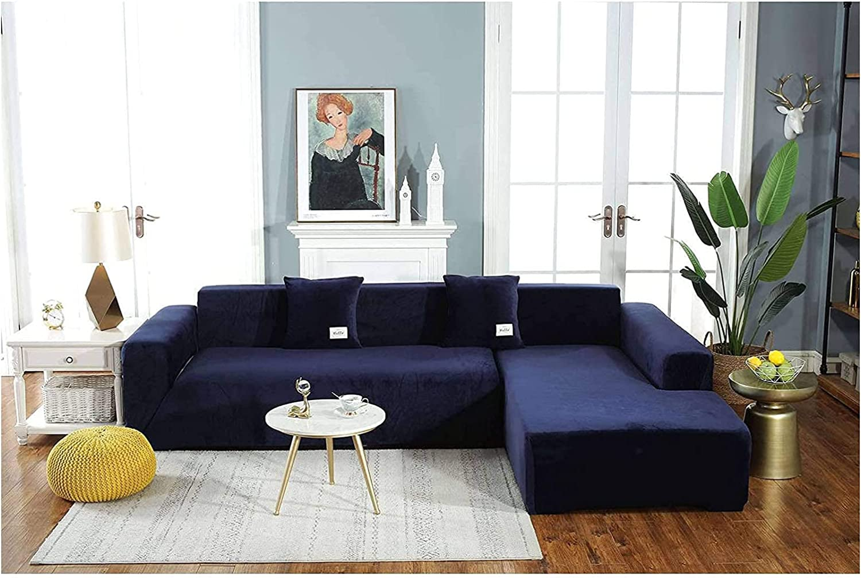 List price HUANXA Max 73% OFF Stretch Velvet Sofa Slipcover A L-Shaped Soft Cover