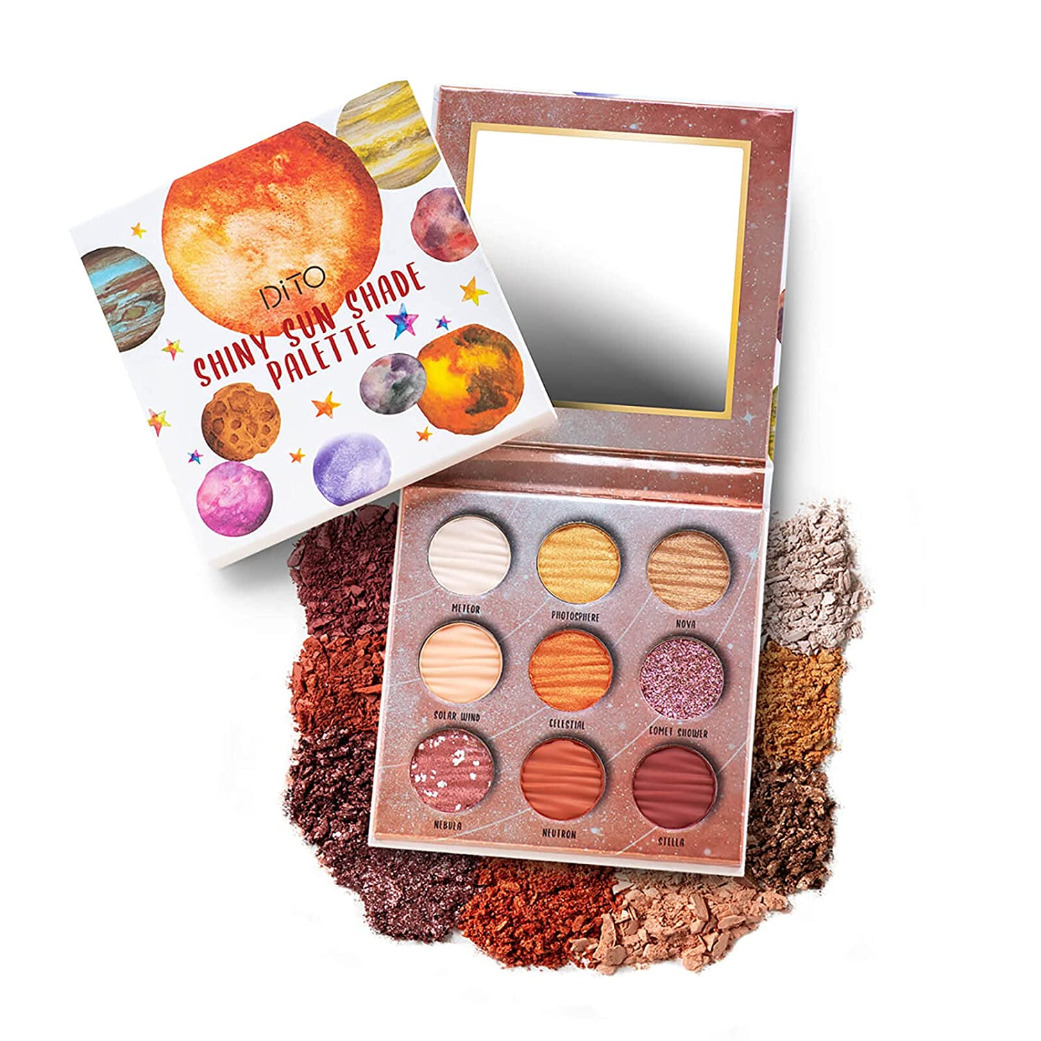 DiTO 9 Max 82% OFF trust Color Glitter Sun Palette Eyeshadow Pallet Mat