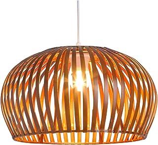 Lussiol 250087 - Lámpara de techo (bambú, 60 W, 35 x 20 cm), color natural