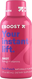 Eboost Natural Energy and Vitamin Shots 2Fl oz (12 Pack) (Fruit Punch)