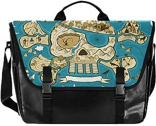 Bolso de lona con diseño de calavera para hombre y mujer, estilo retro, para hombro, ideal para iPad, Kindle, Samsung