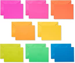 American Greetings Single Panel Blank Cards with Envelopes, Neon Rainbow (100-Count)