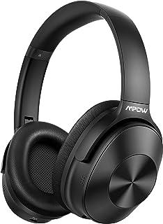 Hybrid Noise Cancelling Headphones, Mpow Bluetooth 5.0 Headphones Over Ear, Hi-Fi Deep Bass Wireless Headphones with Mic, ...