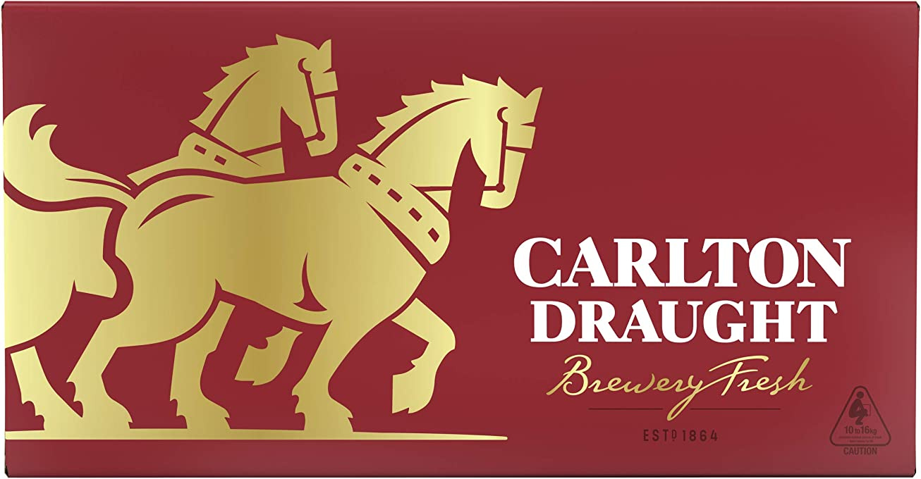 Carlton Draught Beer Case 24 x 375mL Bottles
