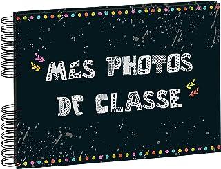 Exacompta - Réf. 16010E - 1 Album photos à spirales 50 pages noires pour photos de classe - Format 32x22 cm - couverture p...