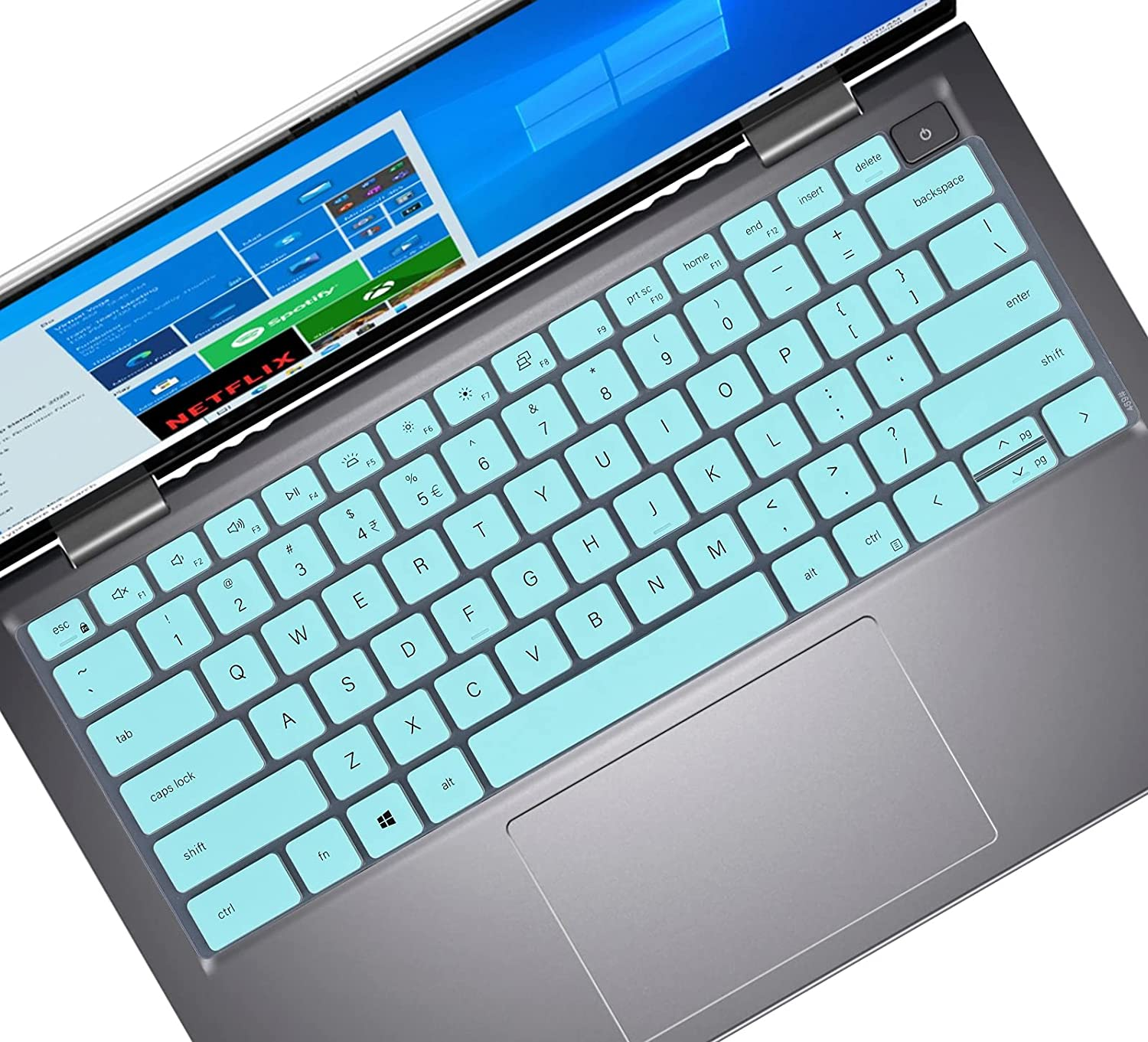 Keyboard Cover for 2021 New Dell inspiron 13 5310, inspiron 14 5410 7415, Latitude 3320 3420 Laptop, Dell inspiron 13 5310 & inspiron 14 5410 7415 Keyboard Skin Accessories - Mint