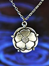 Tudor Rose Necklace | English Rose | Royal Rose | Handcrafted Pewter