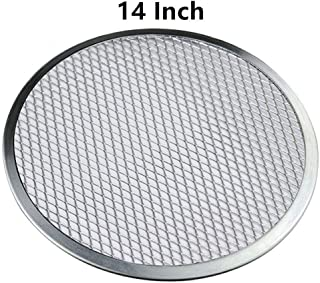 14'' Pizza Screen Aluminum Pizza Pan Round Chef's Baking Screen,Commercial Grade Microwave Crispers