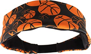 MadSportsStuff Crazy Girls Basketball Headband with Basketball Logos