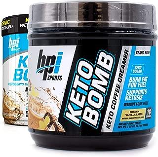 BPI Sports Keto Bomb Creamer Caramel Macchiato and French Vanilla (Pack of 2, one flavor each)